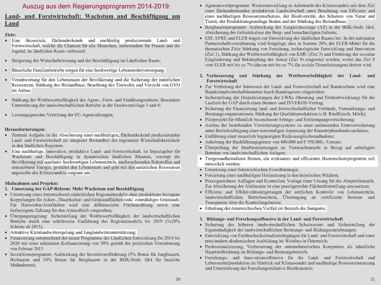 regierung programm österreich